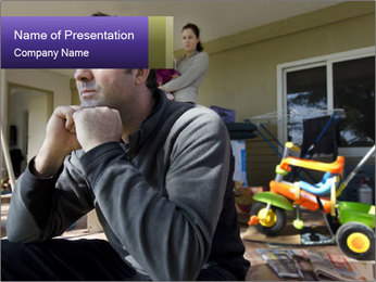 Family Crisis PowerPoint Template - Slide 1