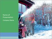 Snow Blower Machine PowerPoint Template