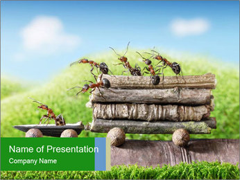 Fairytale With Ants PowerPoint Template - Slide 1