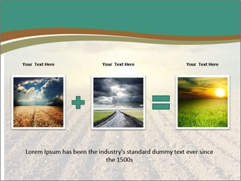 Sunrise In Wineyard PowerPoint Template - Slide 22