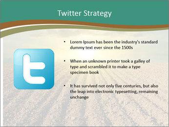 Sunrise In Wineyard PowerPoint Template - Slide 9
