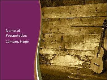 Old Fretboard PowerPoint Template - Slide 1