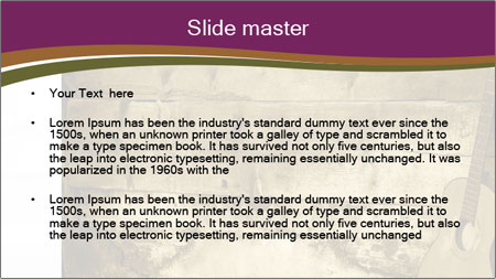 Old Fretboard PowerPoint Template - Slide 2