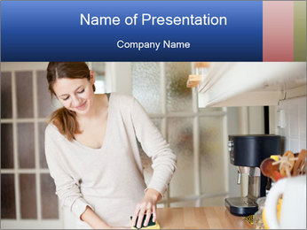 Mama In Kitchen PowerPoint Template - Slide 1