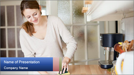 Mama In Kitchen PowerPoint Template