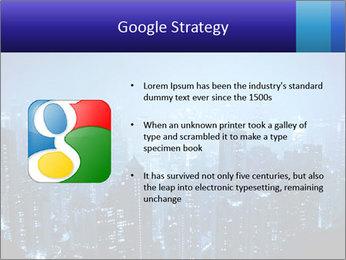 Blue City Night Lights PowerPoint Template - Slide 10
