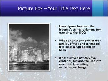 Blue City Night Lights PowerPoint Template - Slide 13
