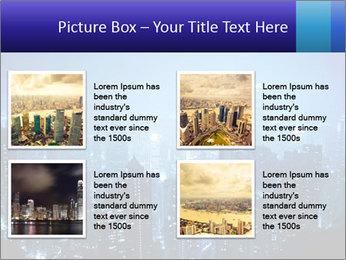 Blue City Night Lights PowerPoint Template - Slide 14
