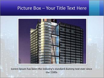 Blue City Night Lights PowerPoint Template - Slide 15