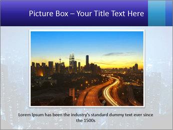 Blue City Night Lights PowerPoint Template - Slide 16