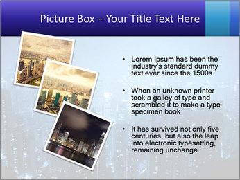 Blue City Night Lights PowerPoint Template - Slide 17