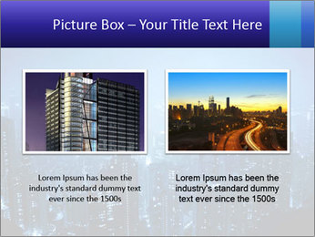 Blue City Night Lights PowerPoint Template - Slide 18