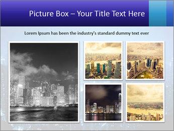 Blue City Night Lights PowerPoint Template - Slide 19