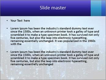 Blue City Night Lights PowerPoint Template - Slide 2