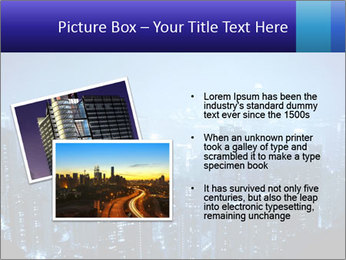 Blue City Night Lights PowerPoint Template - Slide 20