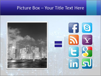 Blue City Night Lights PowerPoint Template - Slide 21