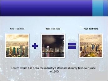 Blue City Night Lights PowerPoint Template - Slide 22