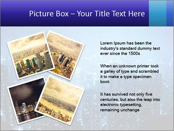 Blue City Night Lights PowerPoint Template - Slide 23