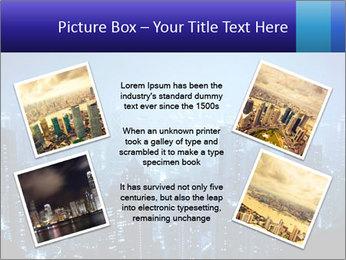 Blue City Night Lights PowerPoint Template - Slide 24