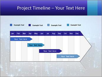 Blue City Night Lights PowerPoint Template - Slide 25