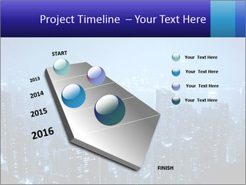 Blue City Night Lights PowerPoint Template - Slide 26