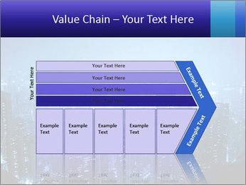 Blue City Night Lights PowerPoint Template - Slide 27
