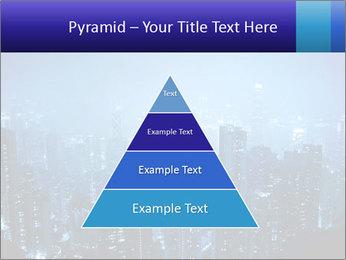 Blue City Night Lights PowerPoint Template - Slide 30