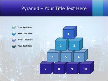 Blue City Night Lights PowerPoint Template - Slide 31