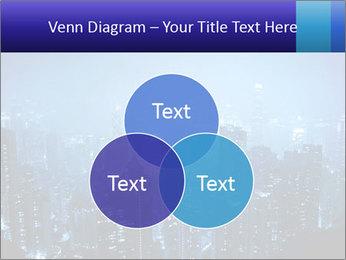 Blue City Night Lights PowerPoint Template - Slide 33