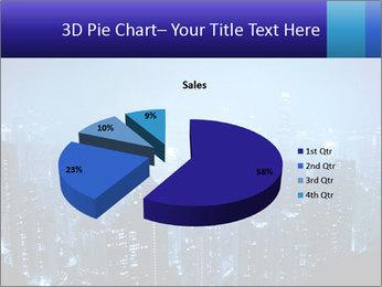Blue City Night Lights PowerPoint Template - Slide 35