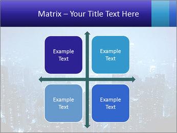Blue City Night Lights PowerPoint Template - Slide 37