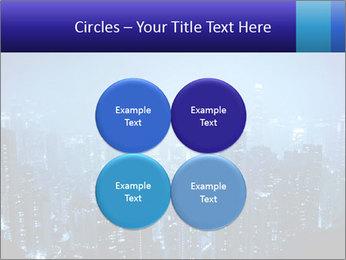 Blue City Night Lights PowerPoint Template - Slide 38