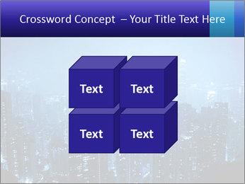 Blue City Night Lights PowerPoint Template - Slide 39