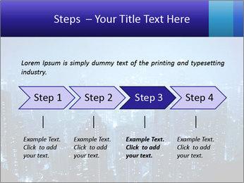 Blue City Night Lights PowerPoint Template - Slide 4
