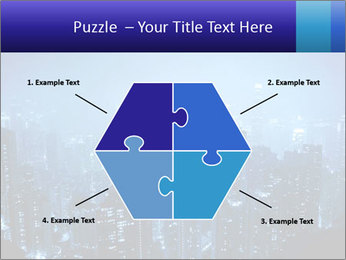Blue City Night Lights PowerPoint Template - Slide 40