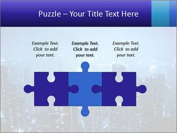 Blue City Night Lights PowerPoint Template - Slide 42