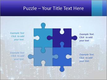 Blue City Night Lights PowerPoint Template - Slide 43