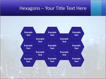 Blue City Night Lights PowerPoint Template - Slide 44