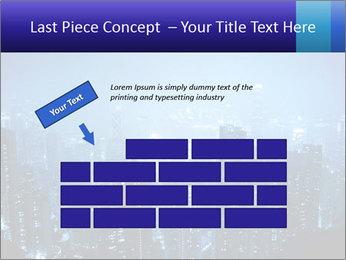 Blue City Night Lights PowerPoint Template - Slide 46
