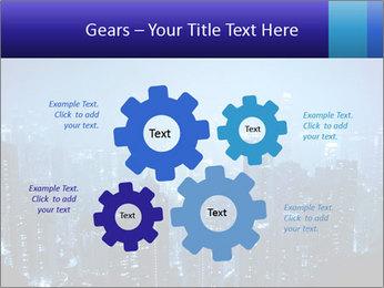 Blue City Night Lights PowerPoint Template - Slide 47