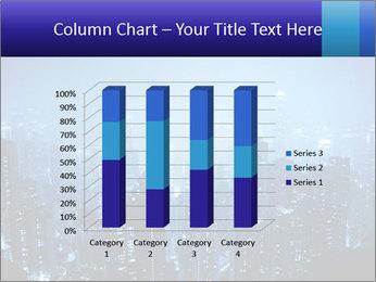 Blue City Night Lights PowerPoint Template - Slide 50