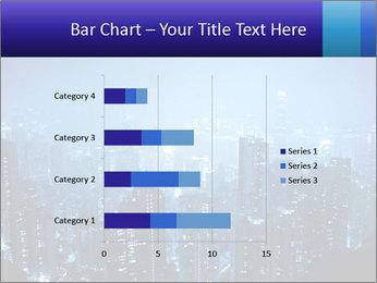 Blue City Night Lights PowerPoint Template - Slide 52