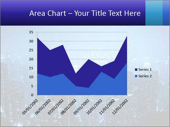 Blue City Night Lights PowerPoint Template - Slide 53