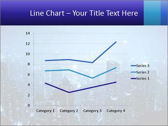 Blue City Night Lights PowerPoint Template - Slide 54