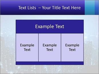 Blue City Night Lights PowerPoint Template - Slide 59