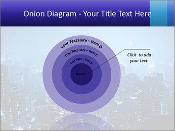 Blue City Night Lights PowerPoint Template - Slide 61