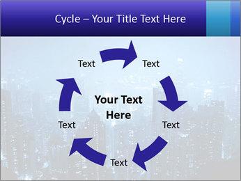 Blue City Night Lights PowerPoint Template - Slide 62