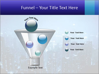 Blue City Night Lights PowerPoint Template - Slide 63