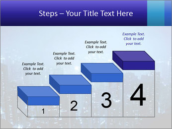 Blue City Night Lights PowerPoint Template - Slide 64
