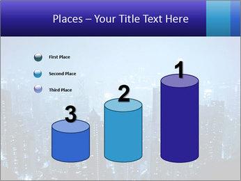 Blue City Night Lights PowerPoint Template - Slide 65